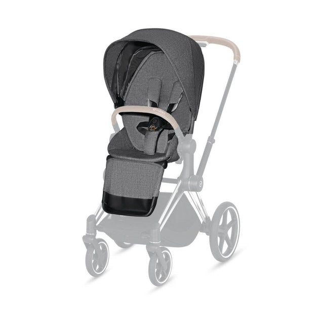 Cybex Priam Seat Pack - Plus - Manhattan Grey-Stroller Seats- Natural Baby Shower