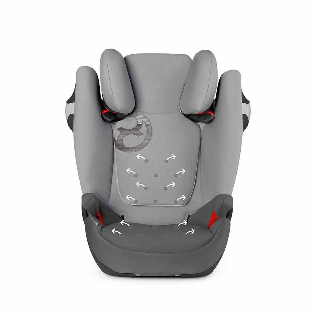 Cybex Solution M-Fix Car Seat - Manhattan Grey Fabric