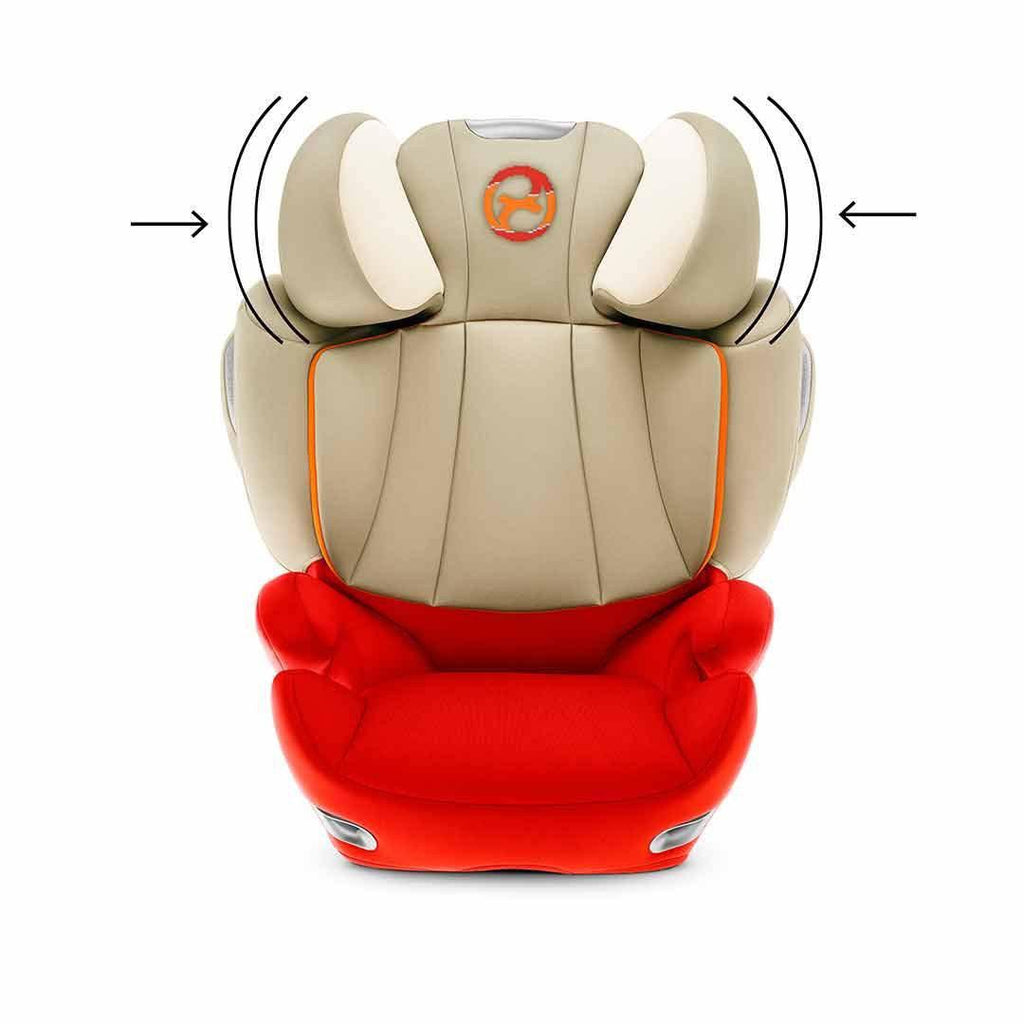 Cybex Solution Q3-Fix Car Seat - Autumn Gold Head Sheild