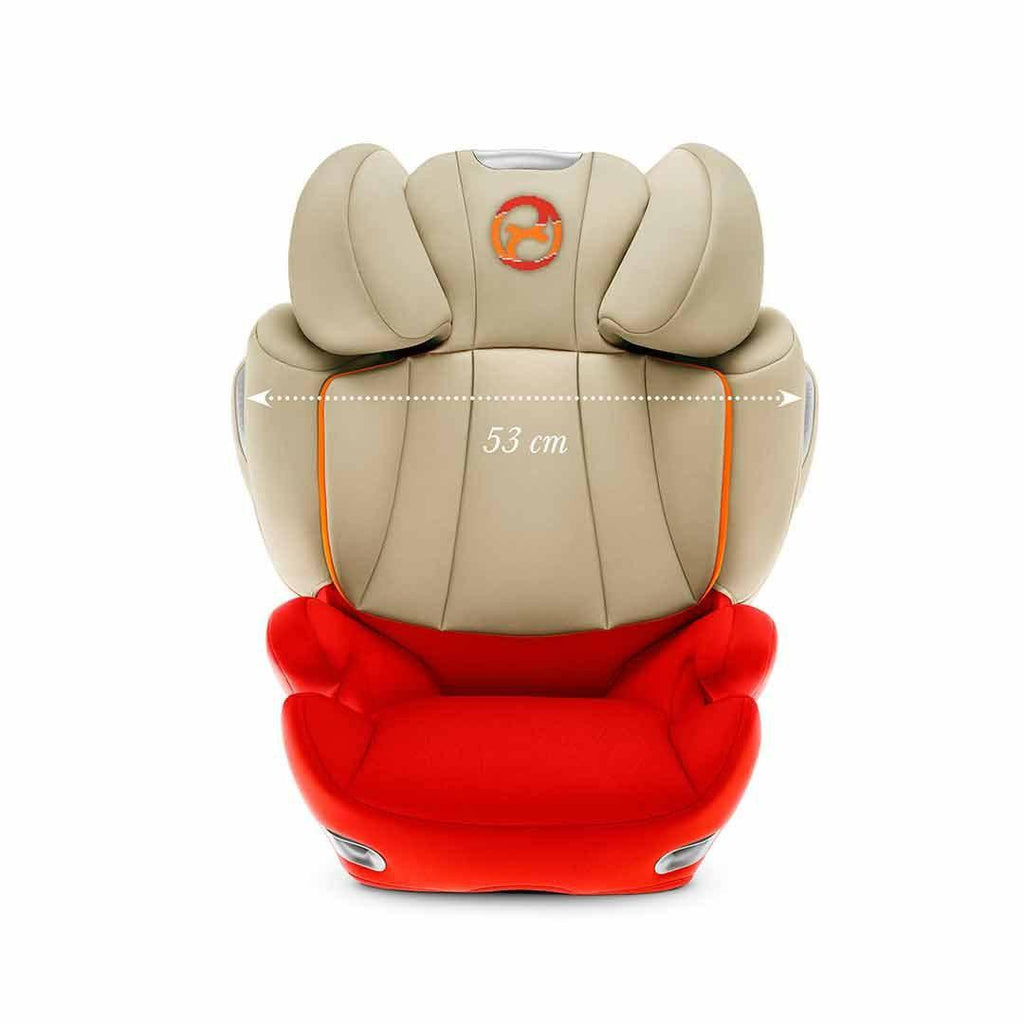Cybex Solution Q3-Fix Car Seat - Autumn Gold Width