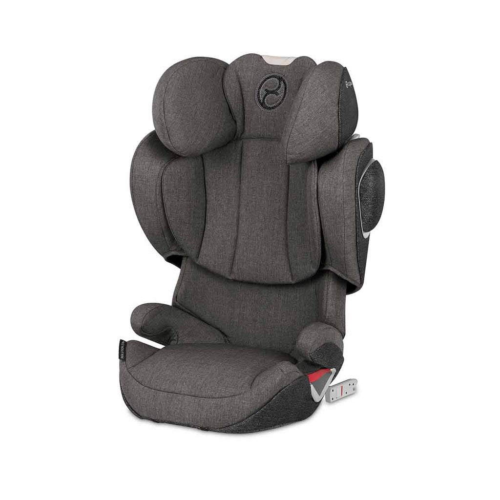 Cybex Solution Z Fix Plus Car Seat In Manhattan Grey Natural Baby
