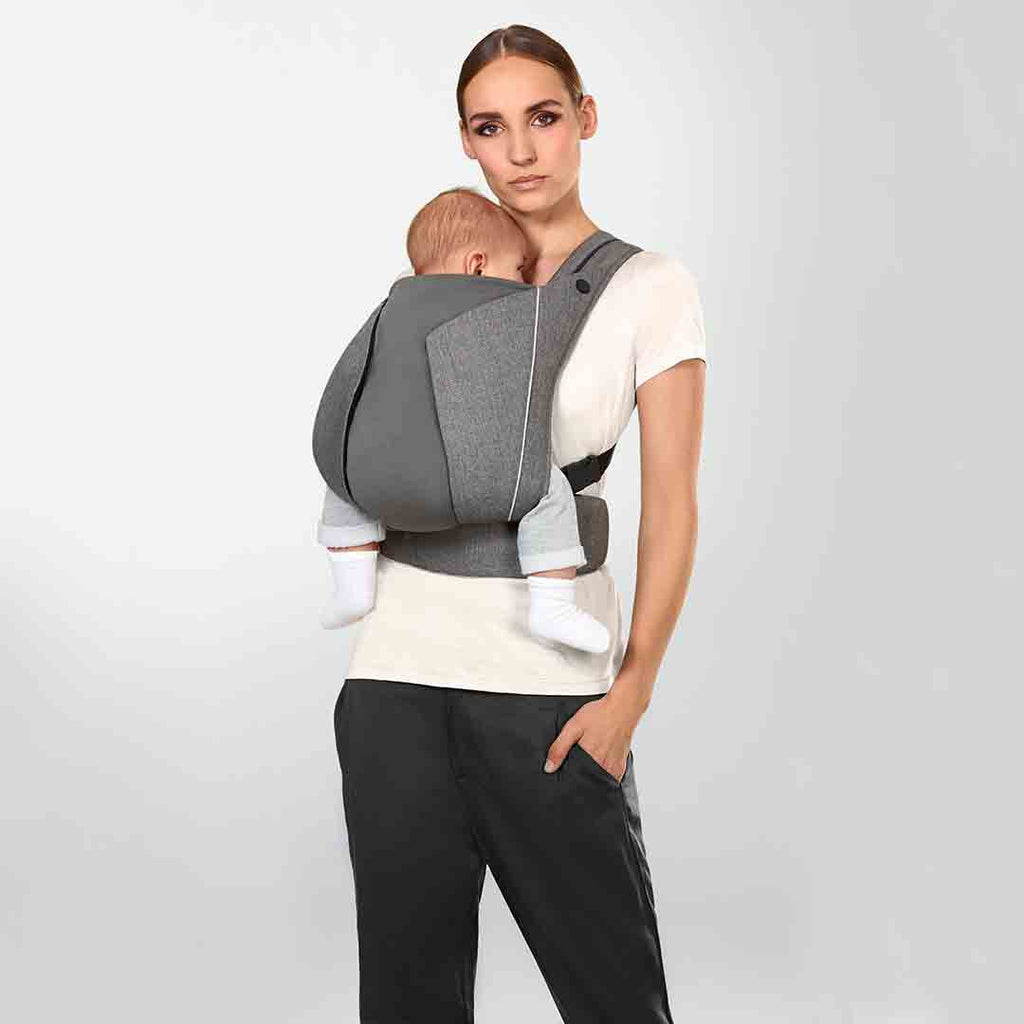 Cybex Yema Click Denim Baby Carrier - Manhattan Grey-Baby Carriers- Natural Baby Shower