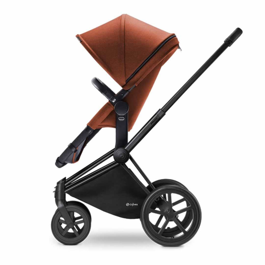 Cybex Priam Pushchair with 2in1 Seat - Black Chassis + Autumn Gold - Strollers - Natural Baby Shower