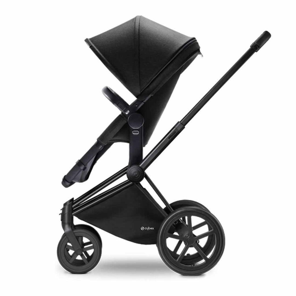 Cybex Priam Pushchair with 2-in-1 Seat in Black Chassis + Happy Black