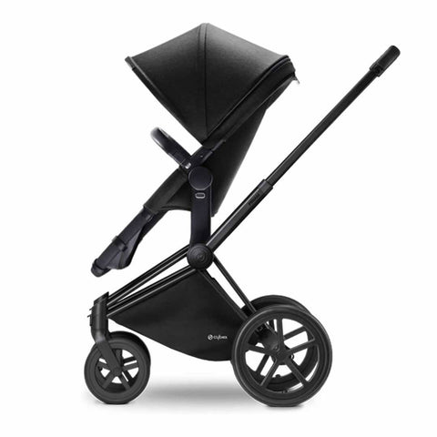 Cybex Priam Pushchair with 2in1 Seat - Black Chassis + Happy Black - Strollers - Natural Baby Shower