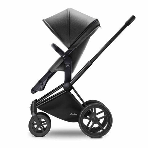 Cybex Priam Pushchair with 2in1 Seat - Black Chassis + Manhattan Grey - Strollers - Natural Baby Shower