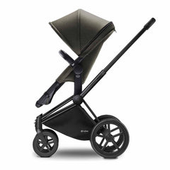 Cybex Priam Pushchair with 2-in-1 Seat in Black Chassis + Olive Khaki