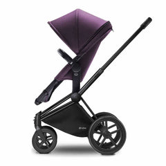 Cybex Priam Pushchair with 2-in-1 Seat in Black Chassis + Princess Pink