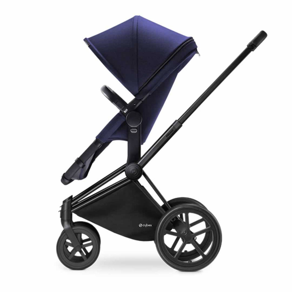 Cybex Priam Pushchair with 2-in-1 Seat in Black Chassis + Royal Blue
