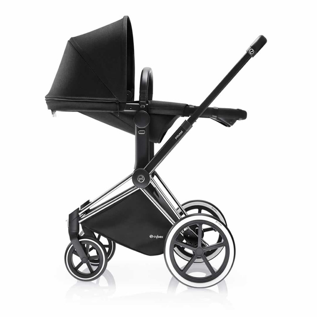 Cybex Priam Pushchair with 2-in-1 Light Seat Lie Flat Happy Black