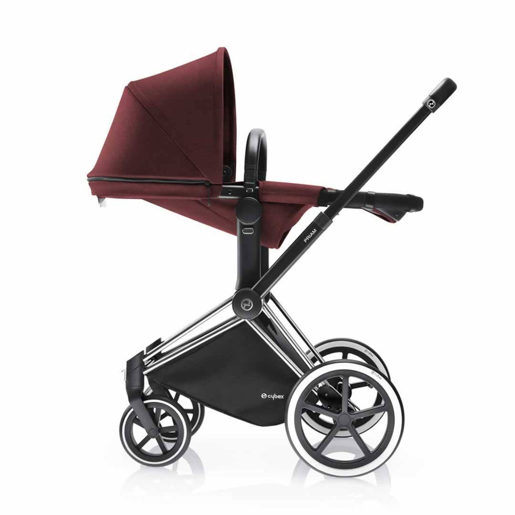 Cybex Priam Pushchair with 2-in-1 Light Seat Lie Flat Mars Red