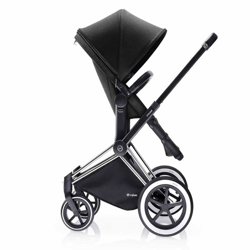 Cybex Priam Pushchair with 2-in-1 Light Seat Side Happy Black