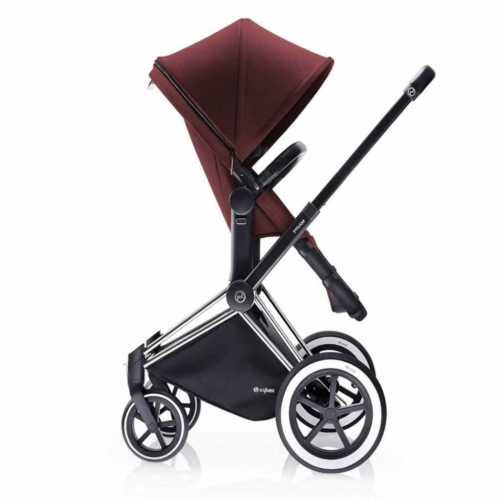 Cybex Priam Pushchair with 2-in-1 Light Seat Side Mars Red
