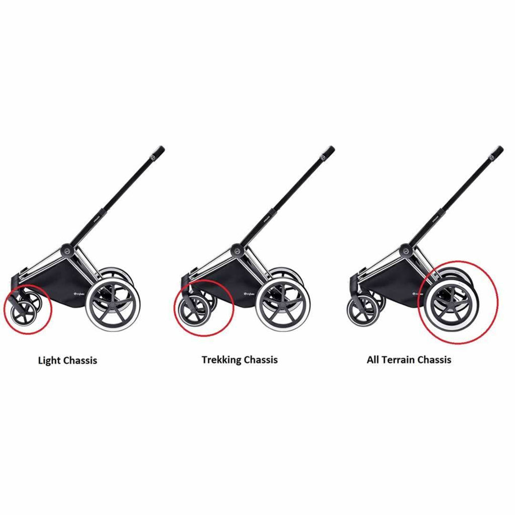 Cybex Priam Chassis - Black Wheels