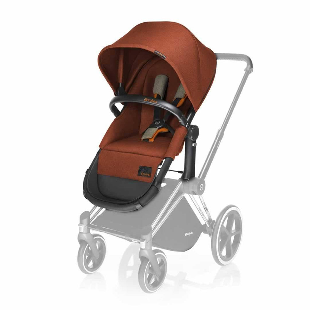 Cybex Priam Carrycot & 2 in 1 Seat Autumn Gold