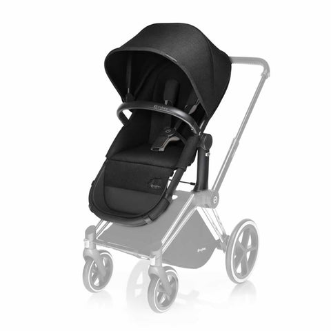 Cybex Priam Carrycot & 2 in 1 Seat Happy Black