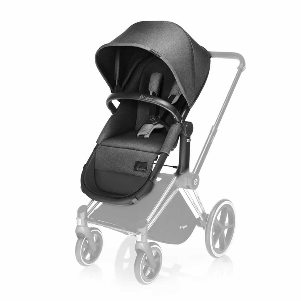 Cybex Priam Carrycot & 2in1 Seat - Manhattan Grey - Carrycots - Natural Baby Shower