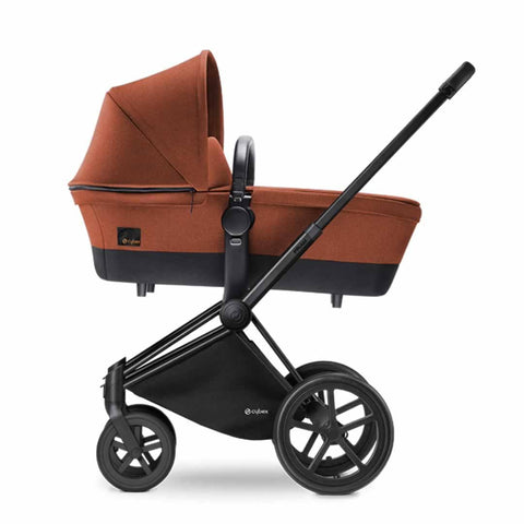 Cybex Priam Pushchair with Carrycot in Black Chassis + Autumn Gold