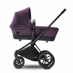 Cybex Priam Pushchair with Carrycot in Black Chassis + Princess Pink