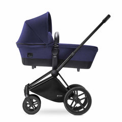 Cybex Priam Pushchair with Carrycot in Black Chassis + Royal Blue