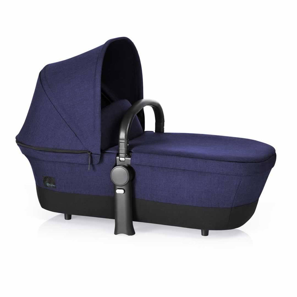 Cybex Priam Pushchair with 2-in-1 Seat Black Chassis + Royal Blue