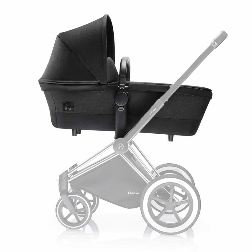 Cybex Priam Carrycot on Chassis Happy Black
