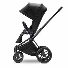 Cybex Priam Pushchair with Lux Seat in Black Chassis + Happy Black