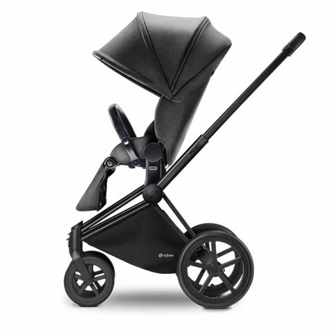 Cybex Priam Pushchair with Lux Seat - Black Chassis + Manhattan Grey - Strollers - Natural Baby Shower