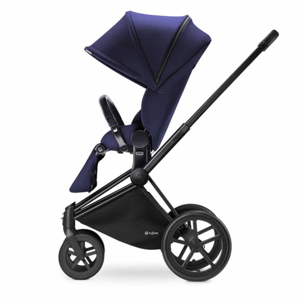 Cybex Priam Pushchair with Lux Seat in Black Chassis + Royal Blue