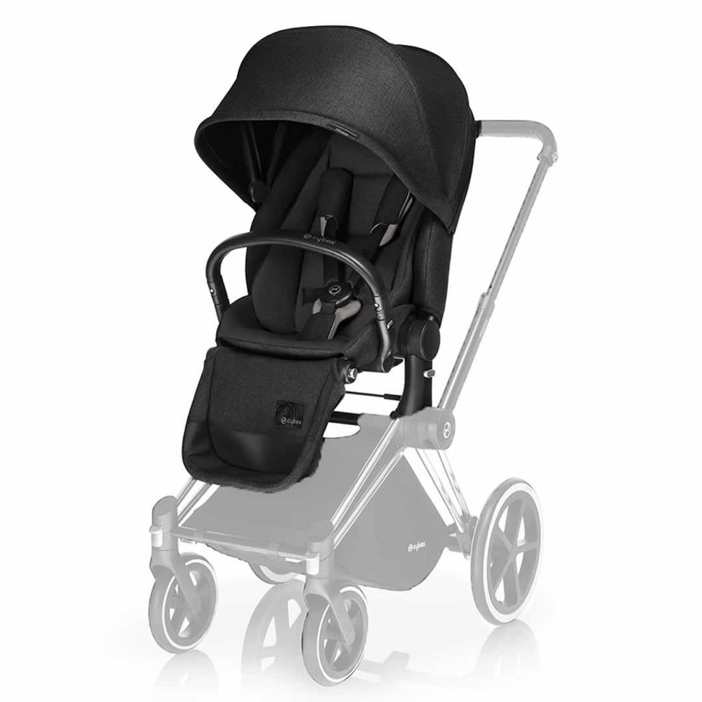 Cybex Priam Pushchair with Lux Seat Black Chassis + Happy Black