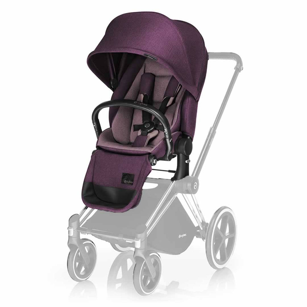 Cybex Priam Pushchair with Lux Seat in Black Chassis + Princess Pink