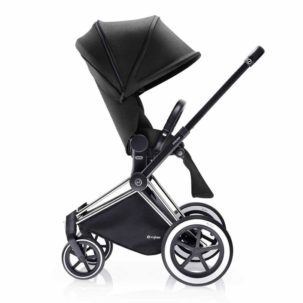 Cybex Priam Pushchair with Lux Seat Side Happy Black