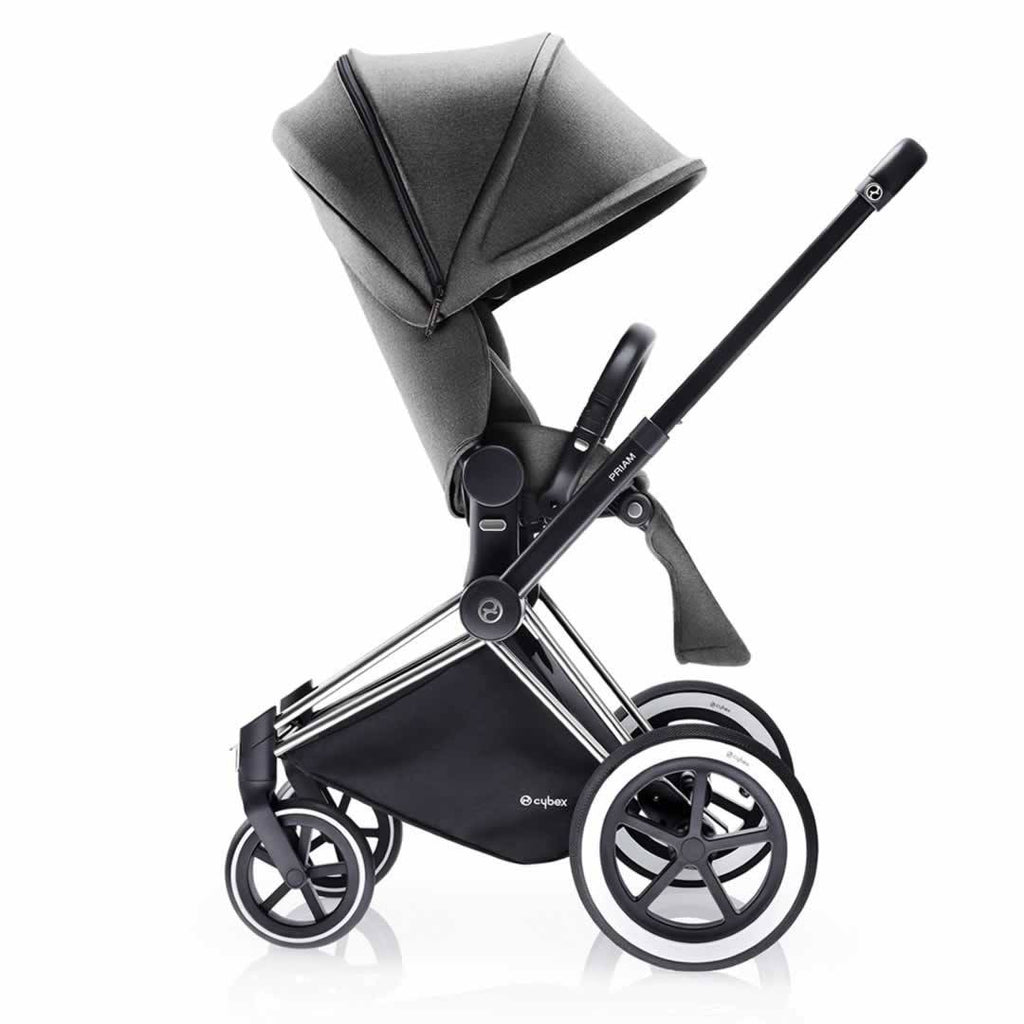 Cybex Priam Pushchair with Lux Seat Side Manhattan Grey