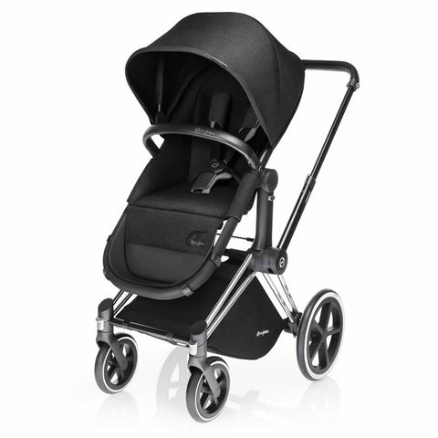 Cybex Priam Pushchair with 2in1 Seat - Chrome Chassis + Happy Black - Strollers - Natural Baby Shower