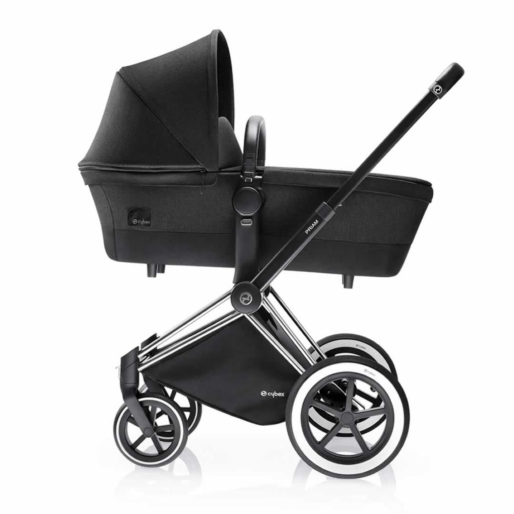 Cybex Priam Pushchair with 2-in-1 Light Seat in Happy Black Carrycot