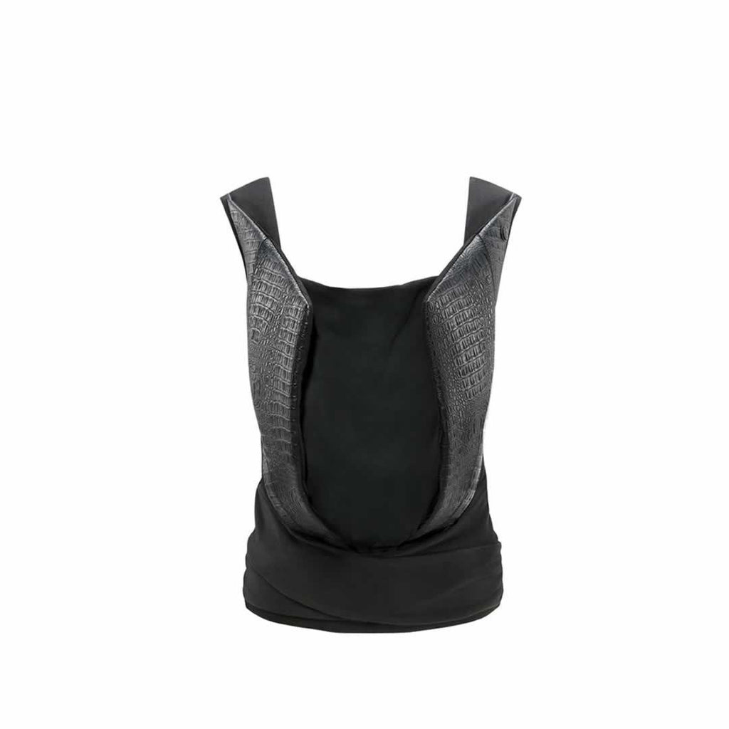Cybex Yema Tie Leather Baby Carrier - Stardust Black-Baby Carriers- Natural Baby Shower