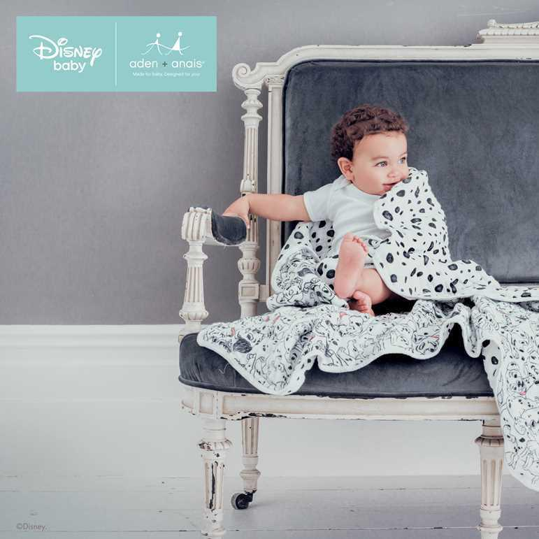 aden + anais Muslin Dream Blanket - 101 Dalmatians-Blankets-101 Dalmatians- Natural Baby Shower