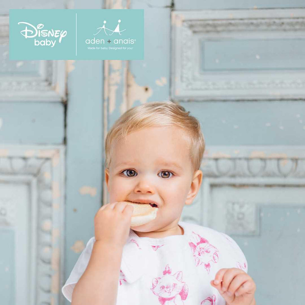 aden + anais Snap Bibs - Aristocats - 3 Pack Lifestyle