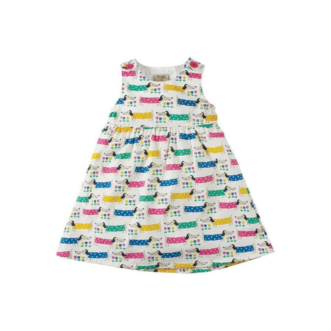 Frugi Little Pretty Party Dress - Dotty Dogs
