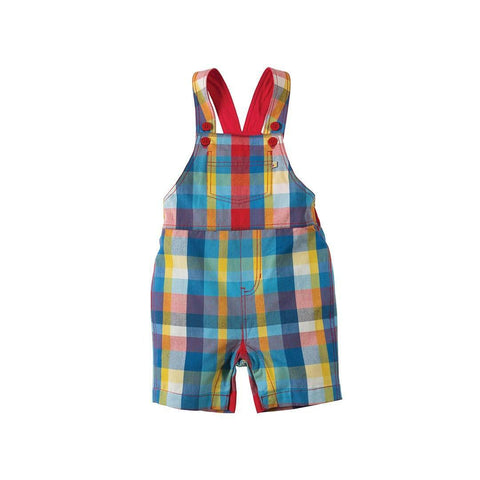 Frugi Tintagel Dungaree - Sail Blue Check