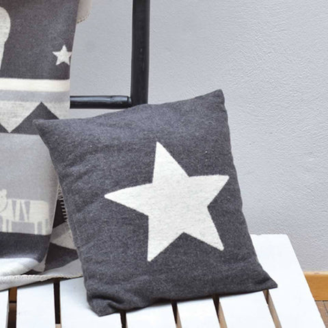 David Fussenegger Star Cushion Cover in Charcoal