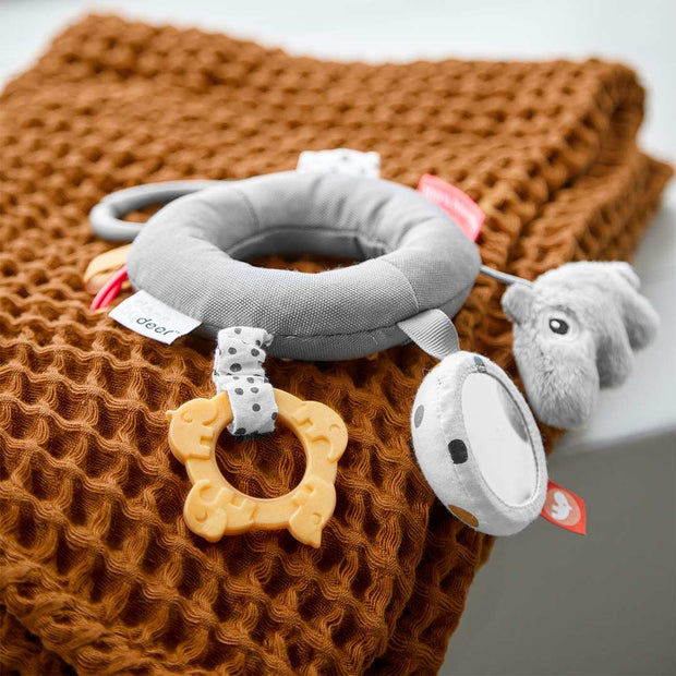 Done by Deer Activity Ring - Grey-Soft Toys- Natural Baby Shower