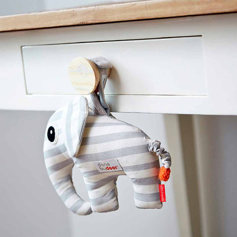 Done by Deer Musical Toy Elphee - Grey-Soft Toys- Natural Baby Shower