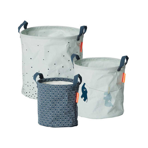 Done by Deer Soft Storage Baskets - Blue - 3pc-Storage- Natural Baby Shower