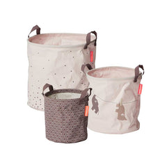 Done by Deer Soft Storage Baskets - Powder - 3pc