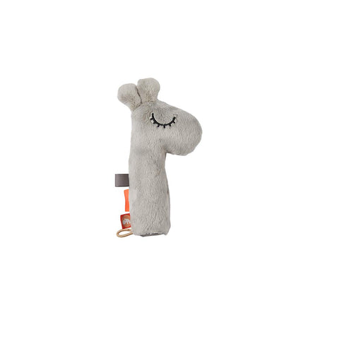 Done by Deer Squeaker Rattle - Raffi - Grey-Rattles- Natural Baby Shower