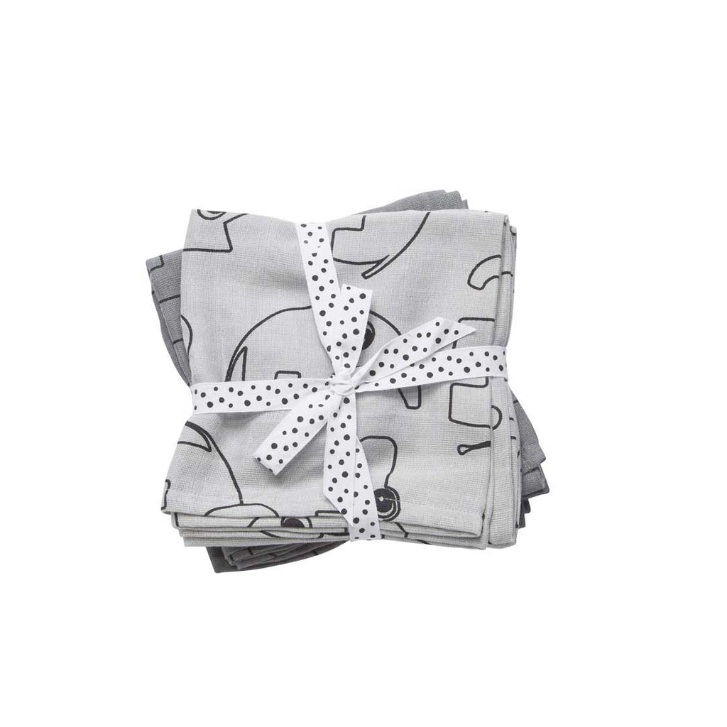 Done by Deer Swaddle Contour - Grey - 2 Pack-Swaddling Wraps- Natural Baby Shower
