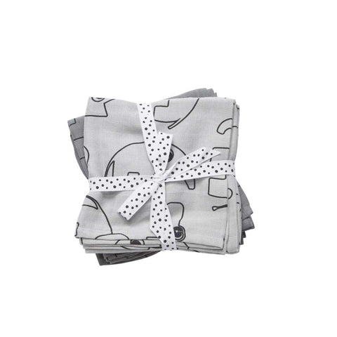 Done by Deer Swaddle Contour - Grey - 2 Pack