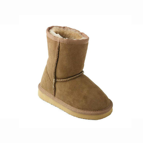 ECL Kids Sheepskin Boots - Chestnut