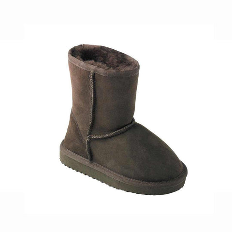 ECL Kids Sheepskin Boots - Chocolate